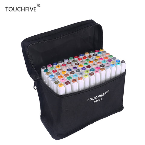 Touchfive 168 Colors Art Marker Set Alcohol Based brush pen liner Sketch Copic Markers touch twin Drawing manga art supplies