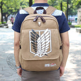 RU&BR Attack On Titan Backpack School Bag Shoulders Bag Anime Printing Backpack Men Women Knapsack Travel Bag Shingeki No Kyojin