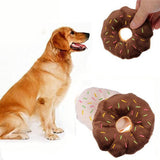 Pet Dog Chew Throw Toys Funny Cute Donuts Puppy Cat Squeaker Squeaky Plush Sound Toys  11 cm