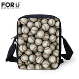 FORUDESIGNS Casual Men&Women Messenger Bag Cool 3D Ball Printing Baby Boys Girls Small Crossbody Bag Travel Shoulder Bag Mochila