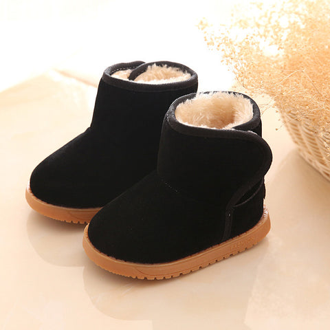 2017 Winter Child Snow Boots Shoes Fashion Warm Baby Girls Boys Snow Boots Shoes Flock Plush Boys Ankle Boots Baby Kids Shoes