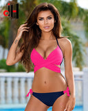 DA HAI Sexy Bikini Women Swimwear 2017 New Summer Bikini Set Multicolor Push Swimwear Female Plus Size Swimsuits Swimwear XXL