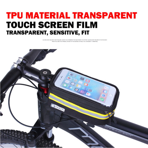Outdoor Cycling Front Head Top Tube Saddle Bag Waterproof Mount Cycling Bags Frame Pannier Touchscreen Phone Case