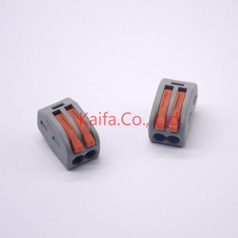 (10 pcs/lot)  WAGO 222-412(PCT212) Universal Compact Wire Wiring Connector 2 pin Conductor Terminal Block With Lever 0.08-2.5mm2