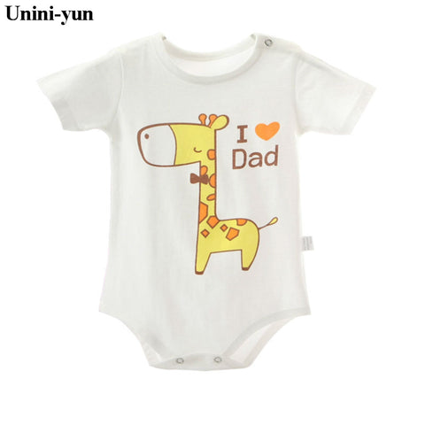 2017 Newborn Summer Rompers Cute Deer Roupa de bebes Baby Girl Boy Jumpsuit Floral Romper Infantil Outfit Clothes Coveralls