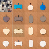 Hipidog Free engraving Pet cat collar accessories Decoration Pet ID Dog Tags Collars stainless steel dog cat tag customized tag