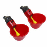 50 Pcs Red Automatic Drinking Cups Chicken Waterer Quail Nipple Drinker Thread Drinker Water Bowl Newest