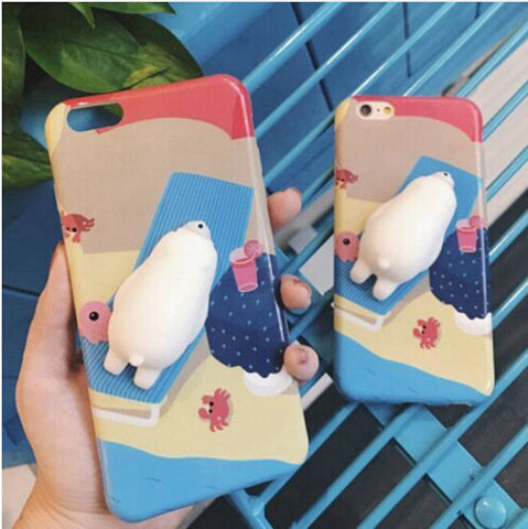 Cat Phone Case For iPhone 7 6 6s KISSCASE 3D Cute Cartoon Silicon Ultra Hard Phone Cases For iPhone 6s 7 Plus X Case Coque Cover