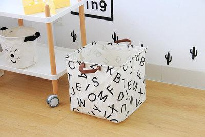 Zakka Large Cartoon Storage Bag Canvas Clothes Laundry Bags Children Baby Play Mat Toys Sundries Organizer Home Decor CZL8152
