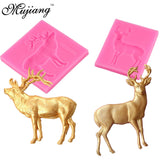 Christmas 3D Deer Cake Silicone Molds Fondant Cake Decorating Tools Kitchen Baking Mold Candy Clay Chocolate Gumpaste Moulds