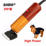 2017 Professional 200W High Power Pet Trimmer Dog shavers Cattle Rabbits Shaver Pet Grooming Electric Hair Clipper Machine