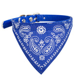 7 Colors 4 Size Adjustable Dog Collar Puppy Cat Scarf Collar for Dogs Cats Bandana Neckerchief Paisley Pattern Pet Accessories