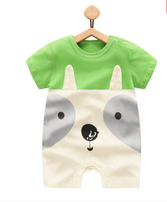 2017 Summer Cartoon Baby Rompers  boy Jumpsuits  Short Sleeve 100/%Cotton Clothes