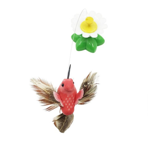 Pet Toy Electric Rotating Colorful Butterfly Bird Funny Cat Toys Pet Seat Scratch Toys For Cats Kitten