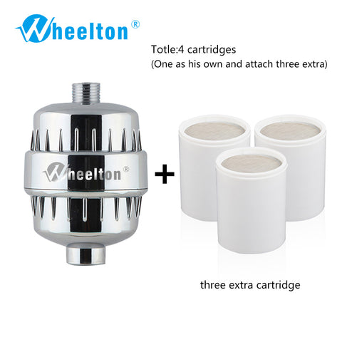 Wheelton Bath Shower Filter(H-303-3E) Softener Chlorine&Heavy Metal Removal Water Filter Purifier For Health Bathing