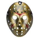 High Quality Dance Gathering Jason Mask Bronze Color Cosplay Halloween Mask Hockey Party Halloween Festival  Horror Funny