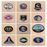 1 PCS UFO Alien parches Embroidered Iron on Patches for Clothing DIY Astronaut Stripes Universe Sewing Space Ship Planet Clothes