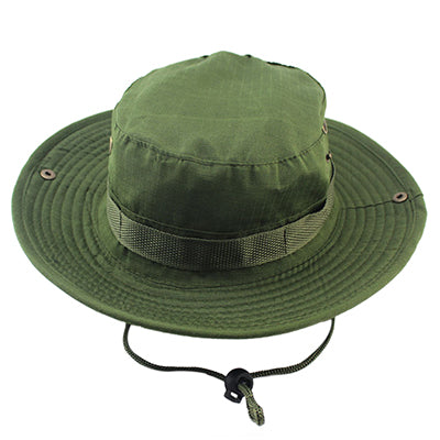 cb95a4bdc8a Fishing Hat Jungle Military Camouflage Bucket unisex UV Protection Wide  Brim Outdoor Sports Sun hats Hunting