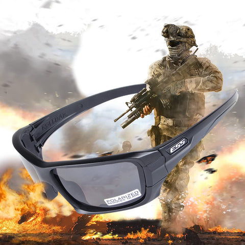 ROLLBAR CDI Polarized Tactical Sunglasses UV protection Military Glasses TR90 Army Google Bullet-proof Eyewear, 4 lens