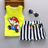 Fashion Newborn Baby Boy Girl Clothes Set Summer Cotton Sleeveless Vest + Shorts 2pcs Outfit Kids Bebes Jogging Suit Tracksuits