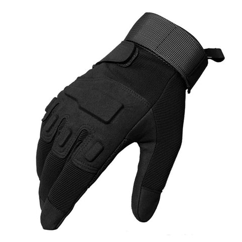 TACVASEN Men's Army Gloves Combat Full Finger Gloves Military Tactical Gloves Men Paintball Anti-Slip Leather Gloves TD-YWHX-021