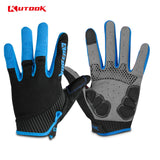 KUTOOK Full Finger Touch Screen Cycling Gloves Road MTB Mountain Bike Gloves Bicycle Outdoor Sport Gloves Breathable Equipment
