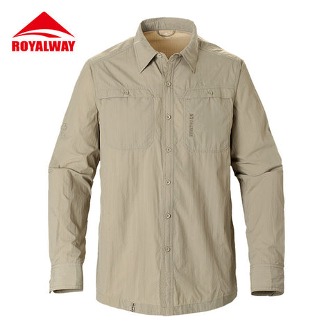 ROYALWAY Camping Hiking Shirts Quick Dry Breathable UV Proof 50+ Full Length Sleeves #RIM7037CS