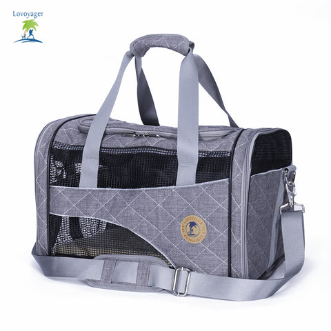 Shoulder pet bag Folding Portable Breathable Mesh airline approved Cotton Pet Carrier dog cat tote bag free shipping