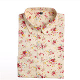 Dioufond Spring Autumn Blouses Women Cotton Shirt Vintage Floral Tops Female Blusas Plus Size Women Clothing Long Sleeve Blouse