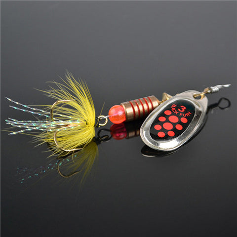 FISH KING 1PC Size0-Size5 Fishing Hard Lure Bait Leurre Peche Mepps Spoon Fishing Tackle Vissen Pesca Acesorios