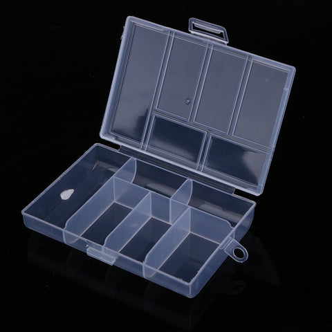 118*85*20mm Fishing Tackle Boxes Fixable 6 Compartment Plastic Storage Box Case Holder Fish Lure Bait Hooks Tackle Case 120L
