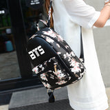 2017 Korean Summer New Fashion Butterfly Flower Backpacks For Teenager EXO GOT7 GD MADE TOP BTS Backpacks For Girl School Bag