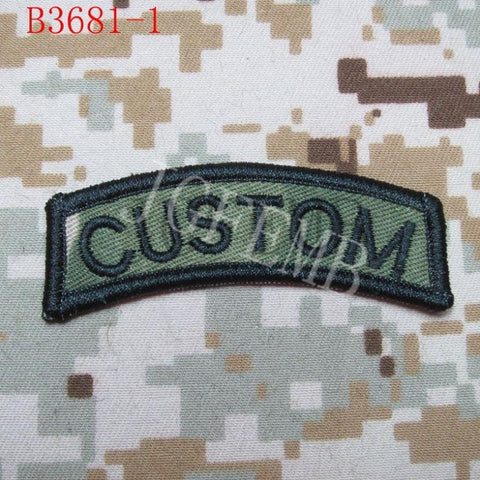 Arc Custom name Tape Text brand Morale tactics Military Embroidery patch