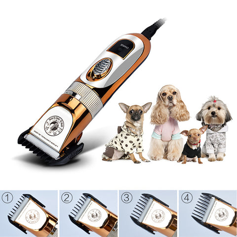 High Power 60W Electric Pet Hair Clipper Cat Dog Rabbit Hair Trimmer Grooming Machine with 3/6/9/12mm shaving comb + Spare Head