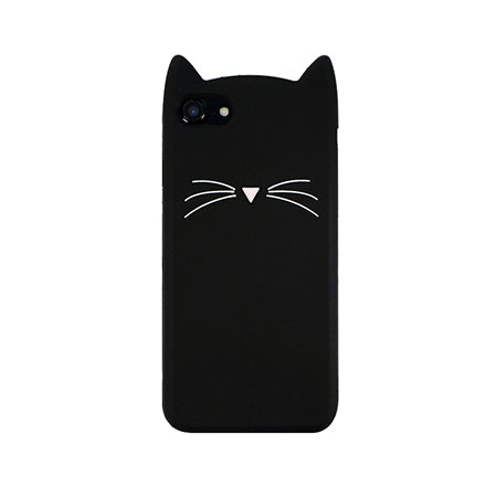 OLLIVAN For iPhone 7 Case 3D Cute Cartoon Animal Beard Cat Ear Phone Cases For iPhone 5S 6 6S 7 8 Plus Silicon Soft TPU Fundas