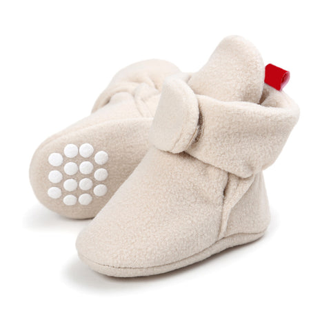 Unisex Baby Newborn Cozie Faux Fleece Bootie Winter Warm Infant Toddler Crib Shoes Classic Floor Boys Girls Boots