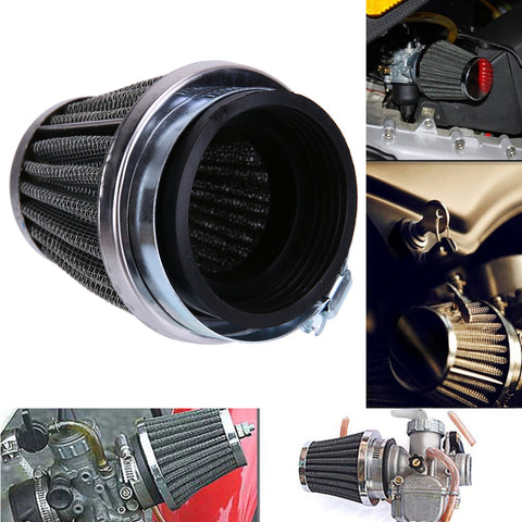 New Universal 39mm 2 Layer Steel Net Filter Gauze Motorcycle Mushroom Head Air Filter Clamp On Air Filter Cleaner Hot Selling