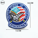 1 PCS UFO Astral Planet Parches Embroidered Iron on Patches for Clothing DIY Stripes Clothes Alien Stickers Lips Appliques @Z