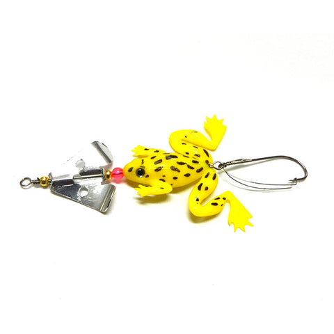 YTQHXY new Rubber Frog Soft Fishing Lures Bass CrankBait Tackle 8cm 6.2g fishing tackle free shipping YE-182