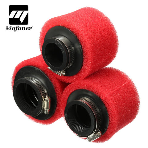 Racing Motorcycle Scooter Bike Dirt Pit Air Filter ATV For GY6 50cc 35 42 48mm