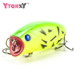 1PCS Popper Fishing lure Pesca Topwate Isca Artificial 11g 5.5cm Crankbaits 3D Eyes Lifelike Hard Bait Fishing Tackle WQ21