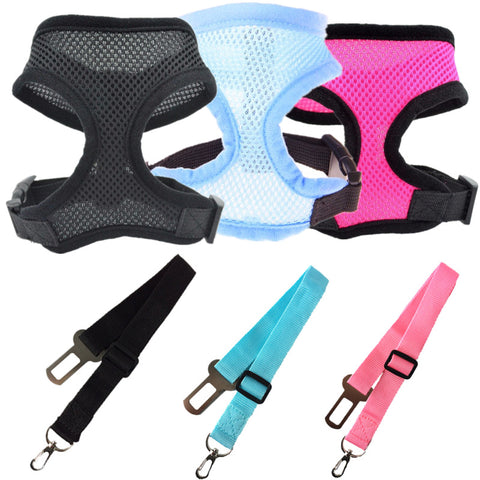 Adjustable Puppy Dog Car Seat Belt & Harness for Dogs Cat Pet Vehicle Safety Seat Belt/Life Belt Teddy Yorkie Leash