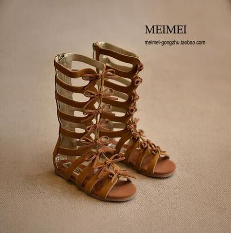 2017 New High-top Summer boots fashion Roman girls sandals kids gladiator sandals toddler baby sandals girls high quality shoes