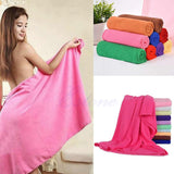 1PC 70x140cm Absorbent Microfiber Bath Beach Towel Drying Washcloth Swimwear Shower