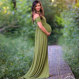 Maternity Maxi Dresses 2017 Maternity Photography Props Chiffon Vestidos Off Shoulders Maxi Pregnant Dress Pregnancy Photo Shoot