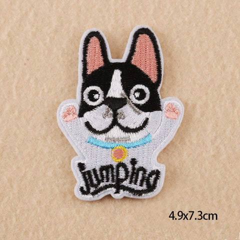 Small Cartoon Dog Cat Rabbit Deer Unicorn Gril Patches Iron On Or Sew Fabric Sticker For Clothes Badge Embroidered Appliques DIY