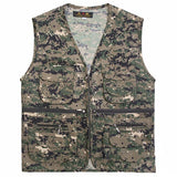 Fishing Outdoor Leisure Vest Thin Section Quick Drying Men's Camo Vests Men Breathable Fly Lure Fishing Tackle Clothing