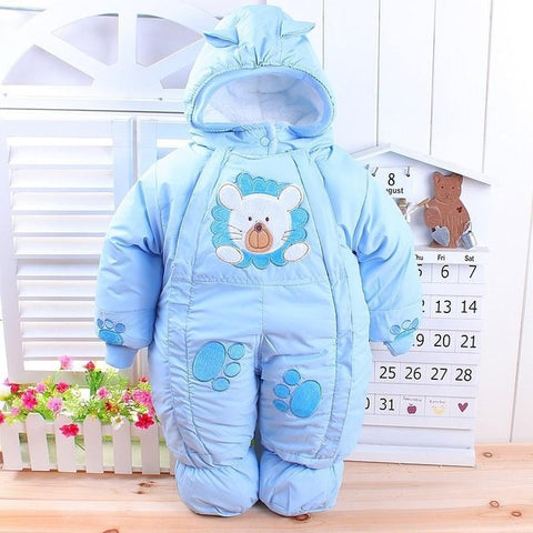 Baby Clothes Autumn Winter Style Newborn Baby Rompers 2017 New Cotton-padded Baby Boys Girls Clothes Cartoon Infant Overalls