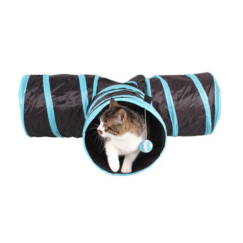 Funny Y Shape 3 Ways Pet Foldable Toys Cat Tunnel Tent Nest Toys Home Folding Training Tunnel Cats Toys