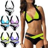 KLV 2017 Brand New Sexy Women Bikini Set Swimwear Bandage Monokini Push Up Padded Swimsuit Bathing Beachwear Charm Biquini